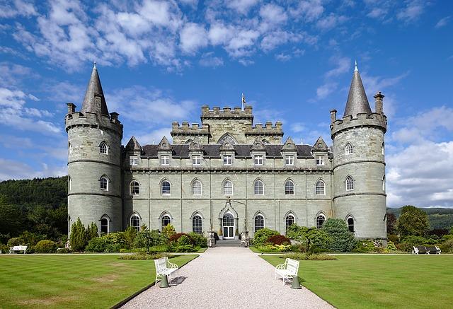 skotský zámek